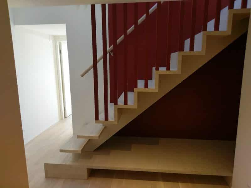 Escalier en chêne blanchi