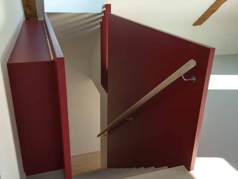 Escaliers chêne blanchi